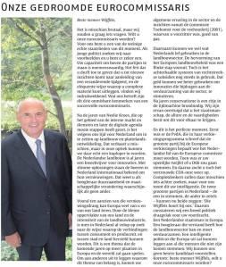 Hoewel de krant de voorzitter en persvoorlichter als auteur publiceerde, schreef ik samen met de huidige secretaris Politiek van de Jonge Democraten in het Nederlands Dagblad een open brief aan ons grote voorbeeld Herman Wijffels.