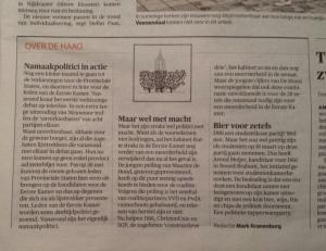 NRC schrijft over mijn initiatief 'D66 zkt. kamer'